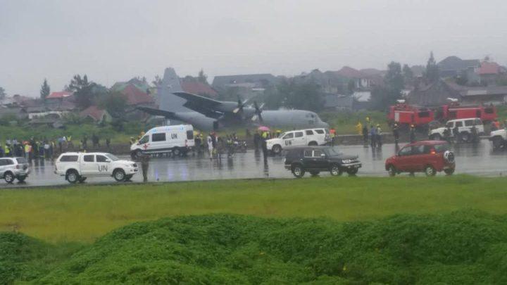 تحطم طائرة عسكرية في مطار غوما شرقي الكونغو
