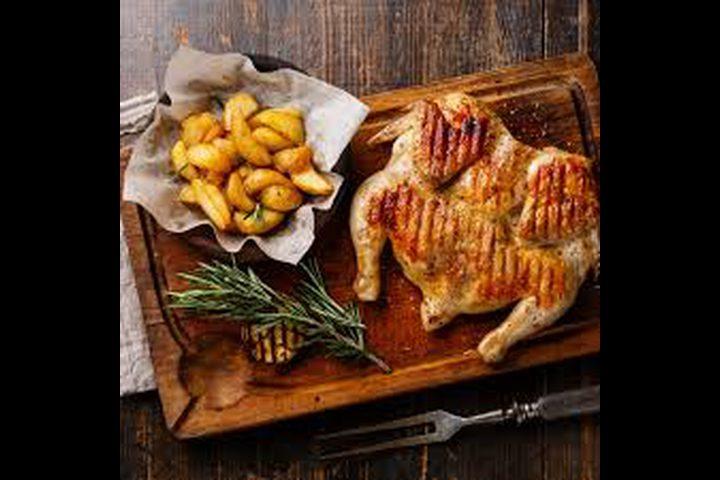 دجاج مشوي مع التتبيلة الخاصة
