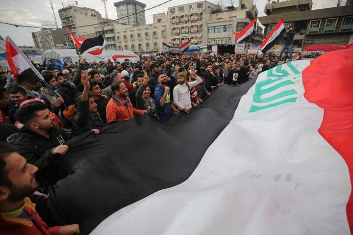 """متظاهرو العراق يهتفون بنداء """"لا لأميركا لا لإيران"""""""