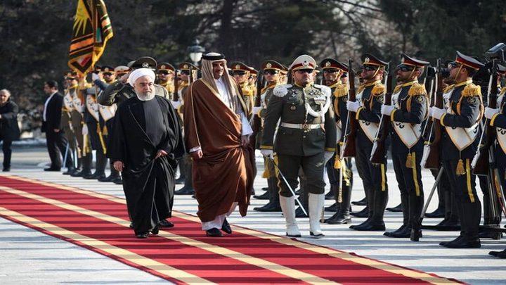 تميم يصل طهران لمناقشة التطورات الطارئة وسط تصاعد التوتر بالمنطقة