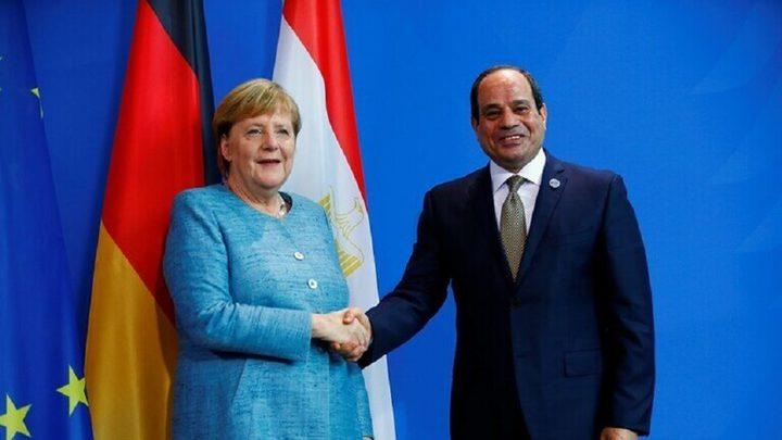 السيسي وميركل يرفضان التدخلات الأجنبية في ليبيا