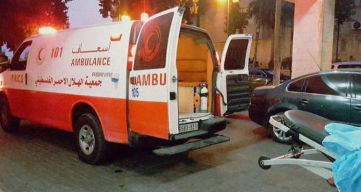 إصابة مواطن اثر تعرضه لحادث سير في نابلس