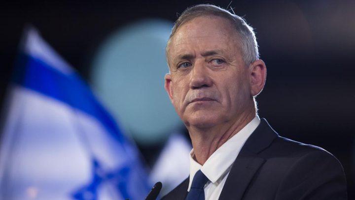غانتس يؤكد فشل سياسة نتنياهو في وقف الصواريخ وتحقيق التهدئة