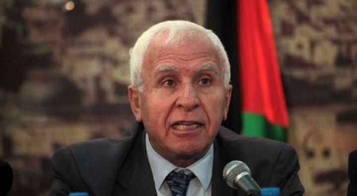 الأحمد: القيادة ستتخذ خطوات هامة لمواجهة الاحتلال