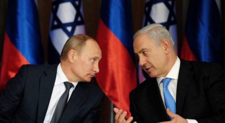اتصال هاتفي بين بوتين و نتنياهو بحث التطورات الاقليمية