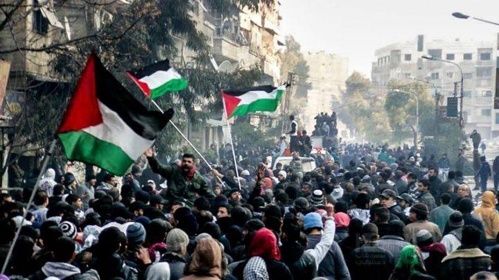 السفير عبد الهادي يشيد بدعم م.ت.ف لللاجئين الفلسطينيين في سوريا