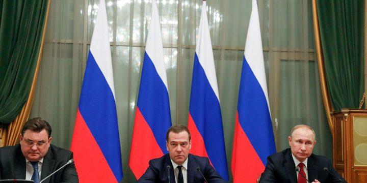 بوتين يوافق على استقالة رئيس الوزراء دميتري ميدفيديف