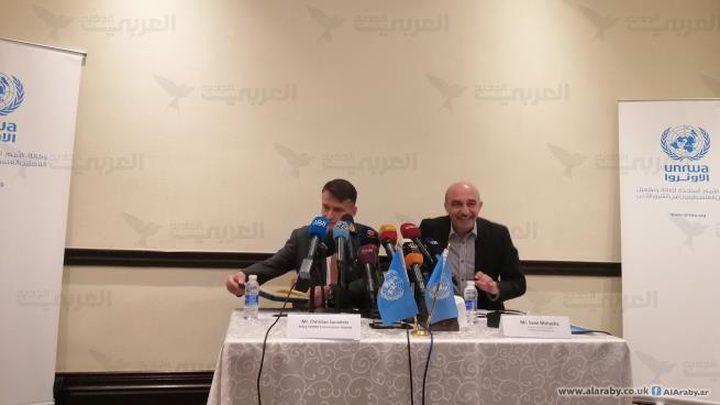 """الأونروا: عام مالي صعب ينتظرنا بسبب ممارسات """"اسرائيل"""""""