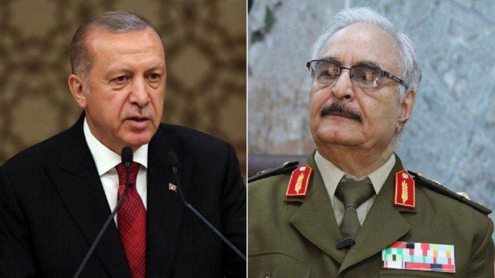 أردوغان يجدد الهجوم على حفتر