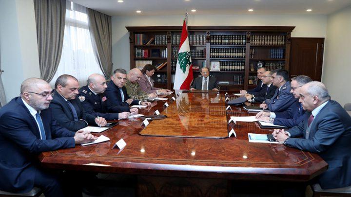 اجتماع أمني في لبنان للتمييز بين المتظاهرين السلميين والمشاغبين