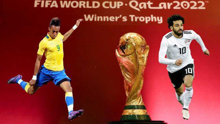 """مونديال """"قطر 2022"""".. صلاح وأوباميانغ وجها لوجه"""