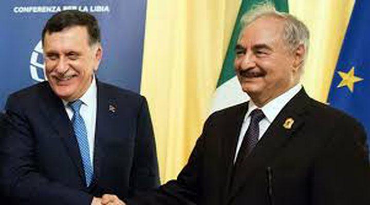 اتفاق بين السراج وحفتر لحل مشكلة النفط في ليبيا