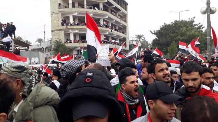 بغداد: تظاهرات  تطالب بخروج القوات الأمريكية من العراق