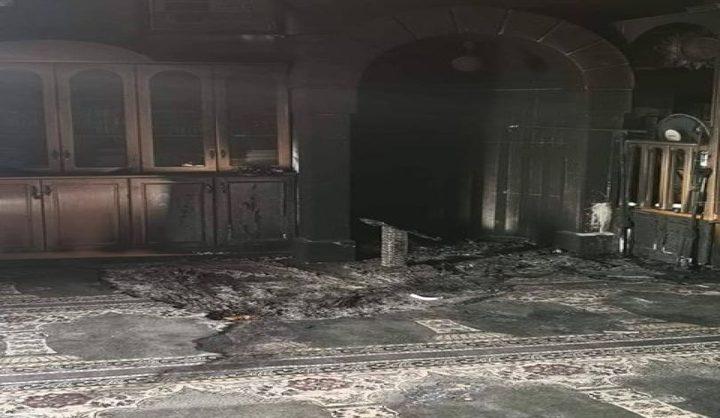 المفتي: إحراق مسجد البدرية يدل على همجية الاحتلال