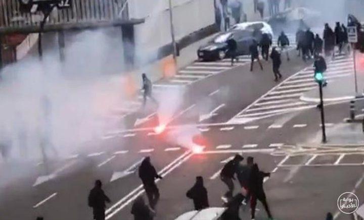 إعتقال أكثر من 100 مشجع برشلوني