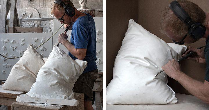 نحات نرويجي يبتكر وسادة مثالية الشكل ولكنها لا تصلح للنوم