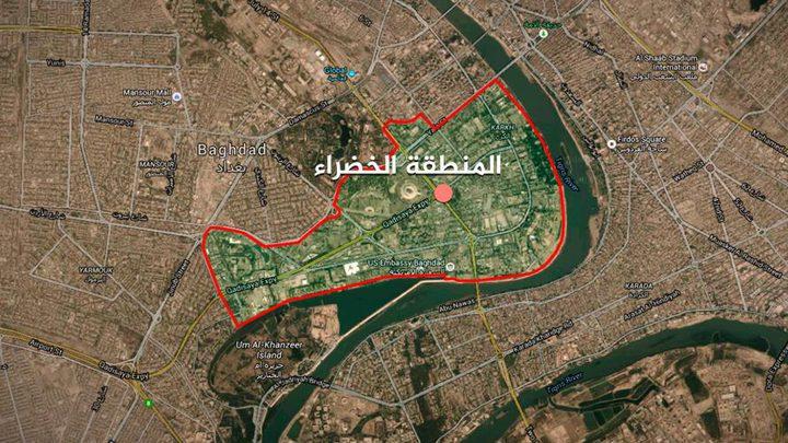صواريخ تستهدف المنطقة الخضراء في بغداد