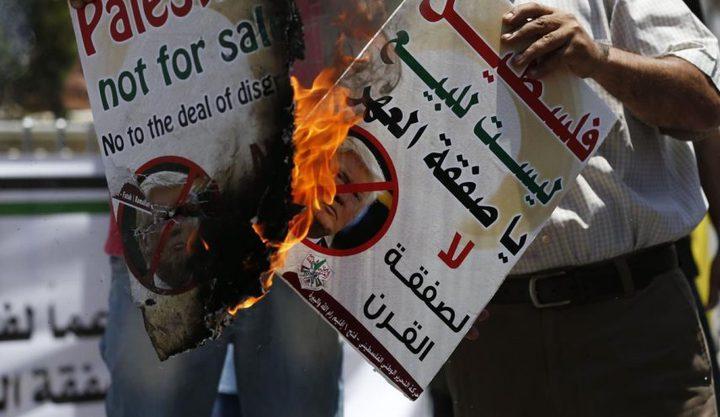 """الفلسطينيون موحدون على رفض """"صفقة القرن"""""""