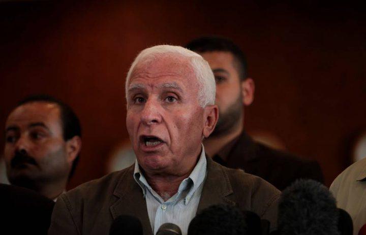الأحمد: وفد من فتح والفصائل سيتوجه لغزة خلال الأيام القادمة