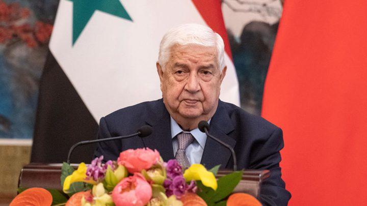 """دمشق تعلن رفضها """"صفقة القرن"""" وتجدد وقوفها إلى جانب فلسطين"""