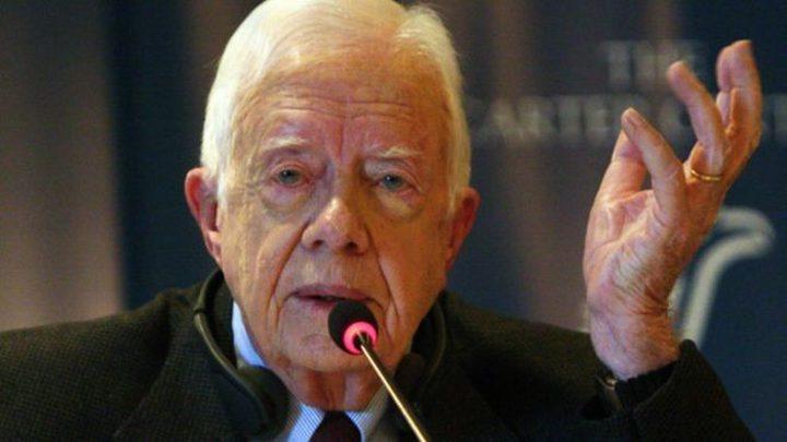 """الرئيس الأميركي الأسبق جيمي كارتر يحذر من تنفيذ """"صفقة القرن"""""""