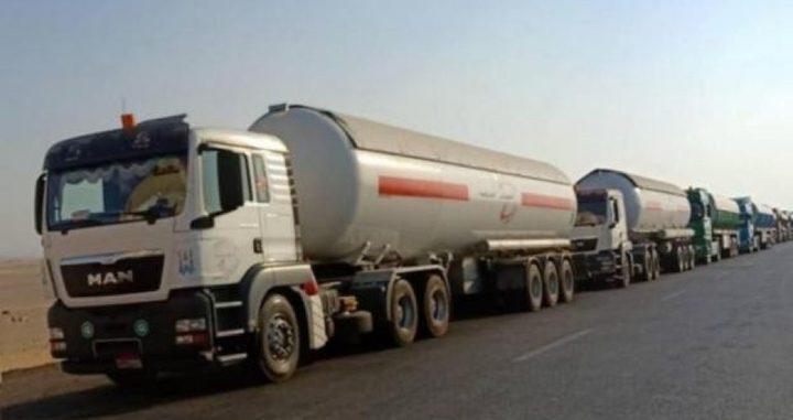 ادخال 26 شاحنة غاز الطهي لقطاع غزة