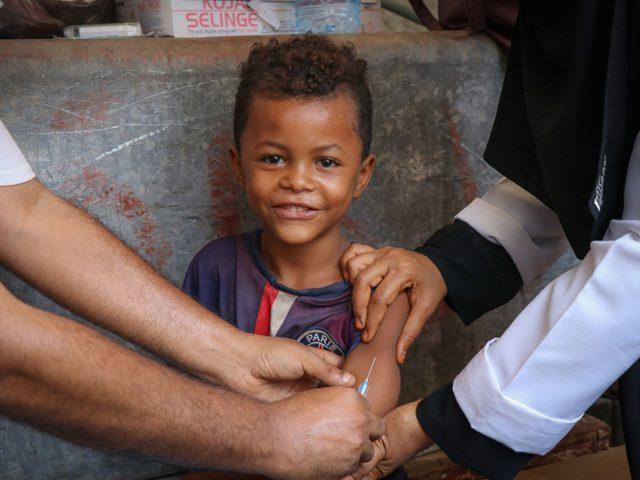 حملة تطعيم ضد الحصبة تطال 45 مليون طفل في البلدان الفقيرة