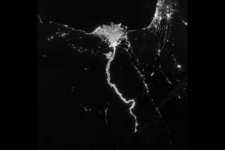 """شاهدوا """"النيل المضيء"""" بعدسة محطة الفضاء الدولية"""
