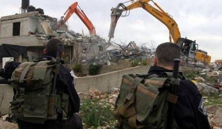 الاحتلال يهدم منزلا بحي الثوري في سلوان