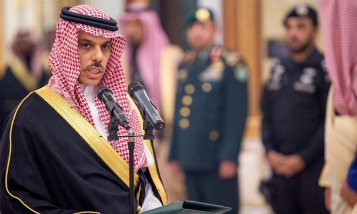 وزير الخارجية السعودي: المملكة تقف مع فلسطين بقوة