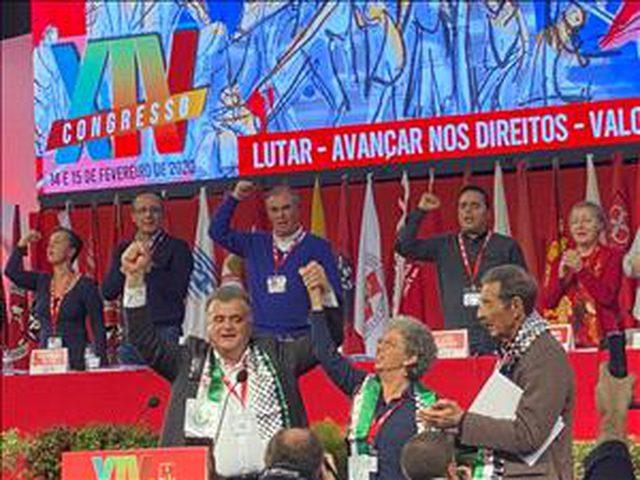 """عمال البرتغال يدين """"صفقة القرن"""" ويدعو لانهاء الاحتلال الاسرائيلي"""