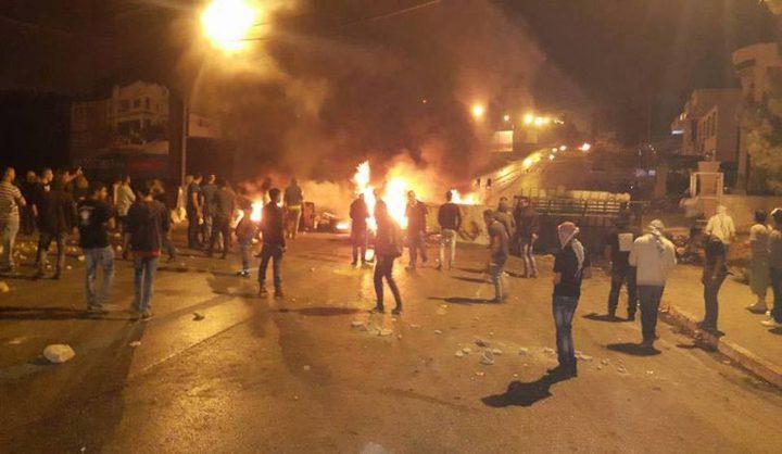 إصابات بالاختناق جراء قمع الاحتلال فعالية سلمية في قرية المغير