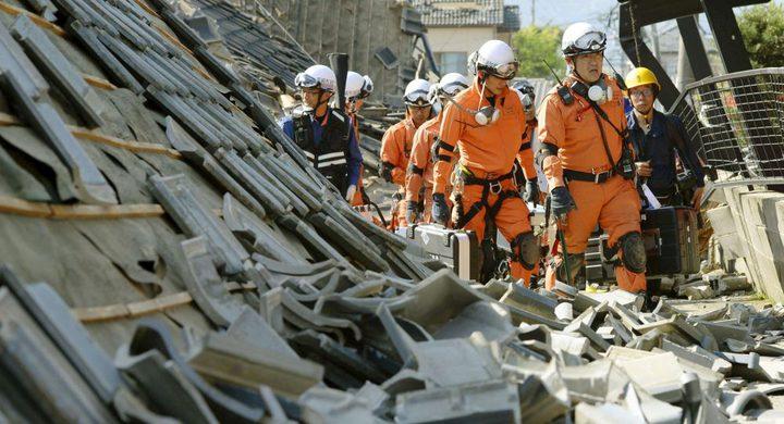 لحظات مرعبة أثناء زلزال مدمر في اليابان