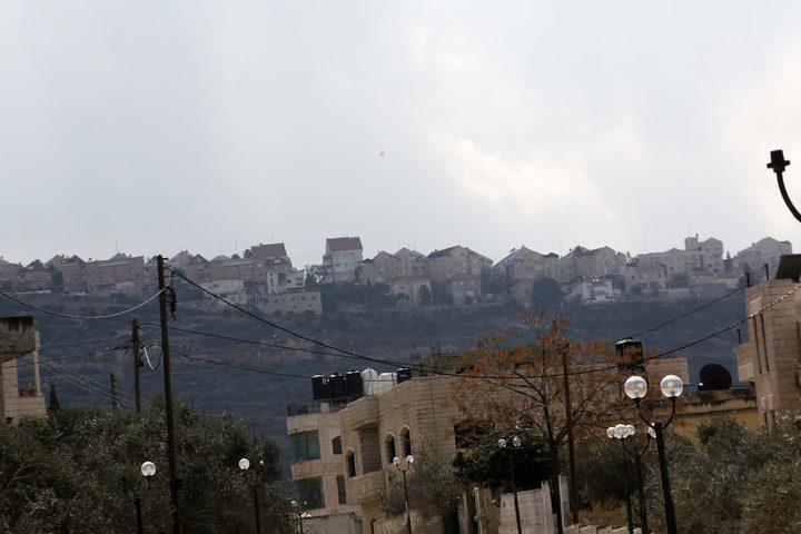 المستوطنات المحيطة ببعض قرى محافظة سلفيت