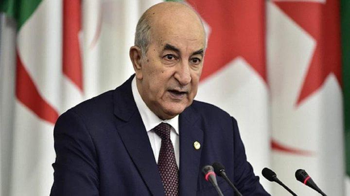 الرئيس الجزائري يحذر من محاولات التحريض على العنف