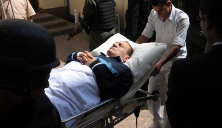 تدهور صحة الرئيس المصري الأسبق حسني مبارك