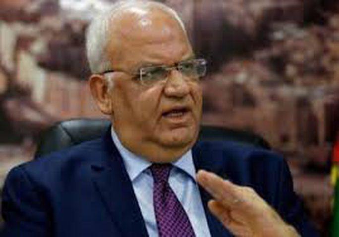 عريقات: إجراءات الاحتلال تهدف لتدمير السلطة
