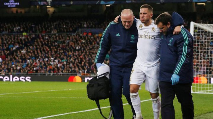 """إصابة نجم ريال مدريد"""" هازارد"""""""