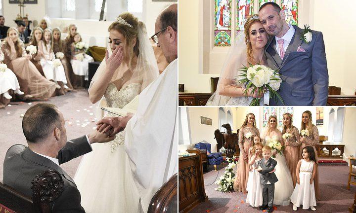 بريطاني يحتفل بزفافه قبل موعد وفاته بأشهر !