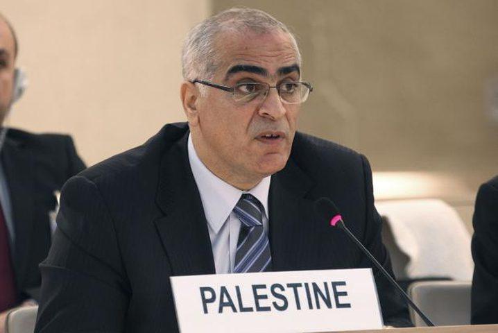 خريشة: حق تقرير المصير للشعب الفلسطيني تكفله المواثيق الدولية