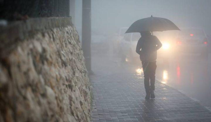 طقس فلسطين اليوم الثلاثاء:أمطار مصحوبة بعواصف رعدية وتساقط البرد