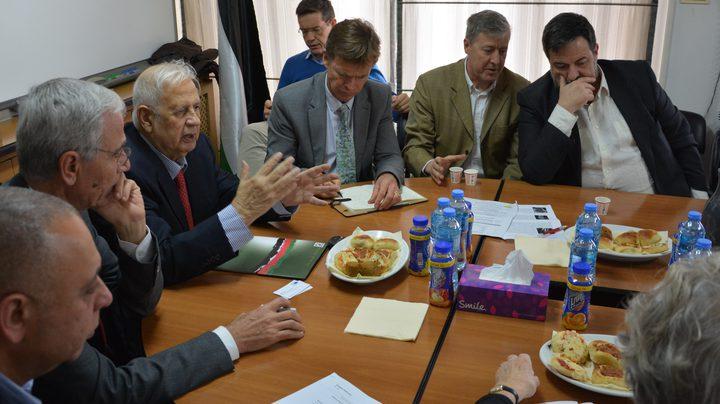 بعثة البرلمان الأوروبي تزور لجنة الانتخابات المركزية