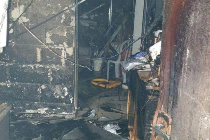 حريق في مبنى المجلس المحلي في كفرياسيف