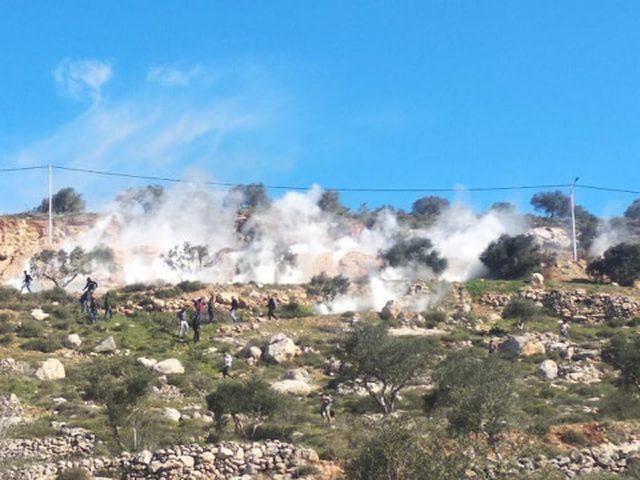 إصابات عقب اقتحام الاحتلال جبل العرمة التابع لأراضي قرية بيتا