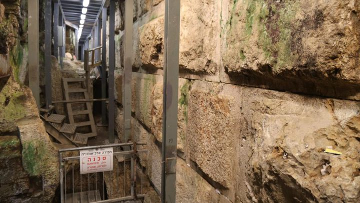 الاحتلال يعزز من الحفريات في سلوان وأسفل الأقصى
