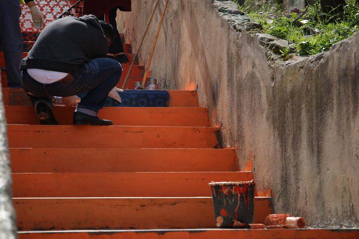 """تدشين جدارية فنية في مدينة نابلس ضمن مبادرة """"مدينتي بعيون الأطفال"""""""