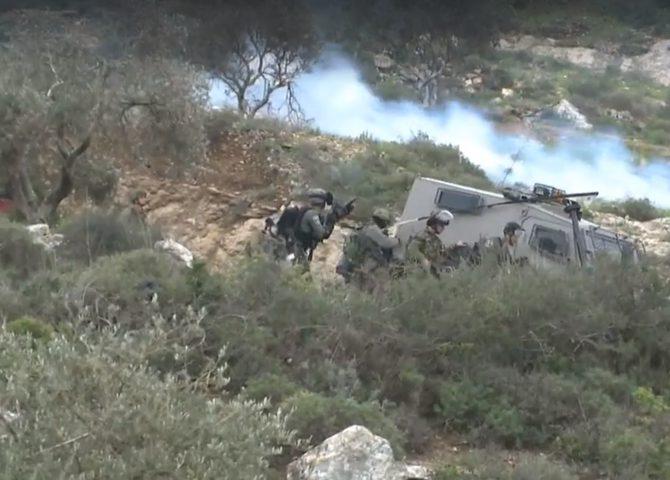إصابات بالرصاص والاختناق خلال التصدي لاقتحام جبل العرمة في بيتا
