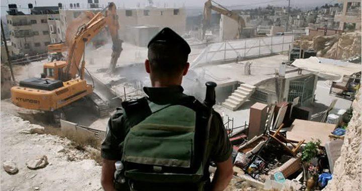 القدس: قوات الاحتلال تهدم جزءا من منزل في جبل المكبر