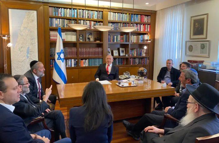 نتنياهو يجتمع مع رؤساء الأحزاب اليمينية لدراسة التحركات القادمة
