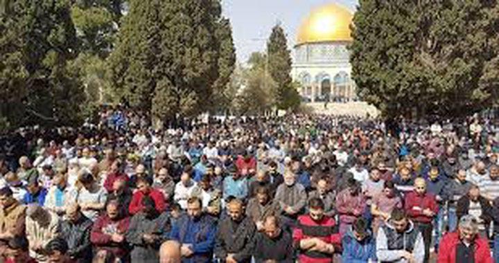 20 ألفا يؤدون الجمعة في المسجد الاقصى